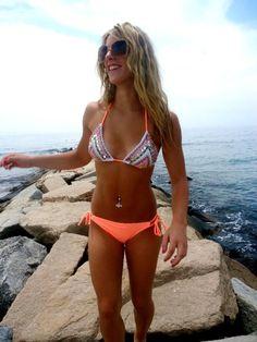 Cute suit. bath suit, orang, swimsuit, summer beach, swim suit, swimming suits, summer bikinis, tan, bright colors