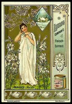 1900. Colours (White) trading card issued by Liebig Extract of Beef Company. S618.