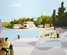 Wynne Finalist. Sydney. Landscape.  Michael Muir: Through the circle :: Wynne Prize 2015 :: Art Gallery NSW