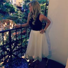 White Tulle Skirt, Black Crop Top and Gaylord Opryland Hotel = #perfectdatenight #ootd #date #night #outfit