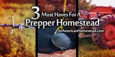 3 Must Haves For a Prepper Homestead | An American Homestead - Living Off Grid in the Ozark Mountains