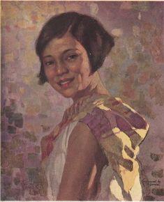 Modern Manila Girl, painted in oil by Fernando Amorsolo Philippine Women, Philippine Art, Japanese Pop Art, Japanese Prints, Chinese Prints, Filipino Art, Pastel Drawing, Artists Like, Art History