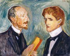 Albert Kollmann and Sten Drewsen (Edvard Munch - )