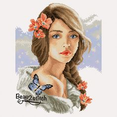 Girl with the braid (cross stitch chart)