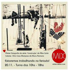 Feriado abriremos! #themixbazar #estudiocriativo #loja #bazar #upcycling #design #moda #colares #fotografia #poster #feriado #cambui
