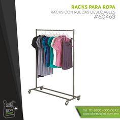 Todo tipo de racks para ropa y accesorios en un solo lugar http://www.storedepot.com.mx/