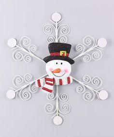 Look what I found on #zulily! Metal Snowman Décor #zulilyfinds