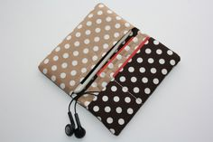 iPhone 6 sleeve-iPhone 6 cover-iPhone 6 case-iPhone 6 hoes-iPhone 6 cell-iPhone 6-iphone wallet- Smart Phone Case/  White dots on brown door TASAMA op Etsy