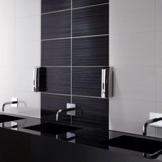 Black and grey porcelain tiles from www.AllMarbleTiles.com