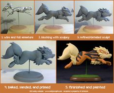 The Making of Arcanine by emilySculpts.deviantart.com on @deviantART
