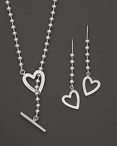 I like this because it is heavy enough not to shift around my neck - Gucci sterling silver #jewelry #necklace set