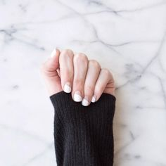 White nails on repeat all summer long