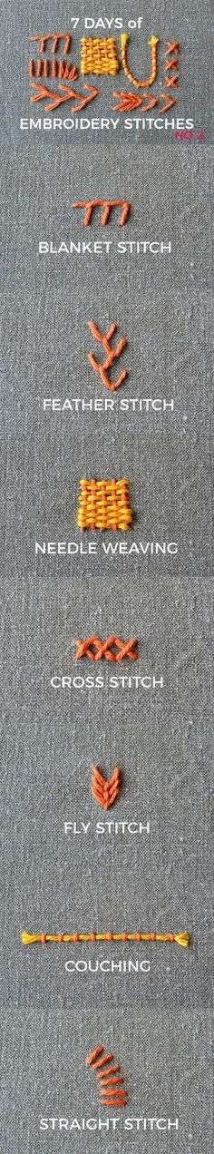 7 days of embroidery stitches part 2: 7 basic stitches you need to learn