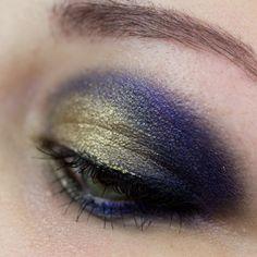 Blue with golden Topper Makeup http://www.magi-mania.de/ein-makeup-in-blau-und-gelbgold/