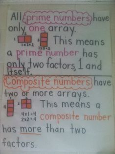 32 best prime and composite numbers images 5th grade teachers