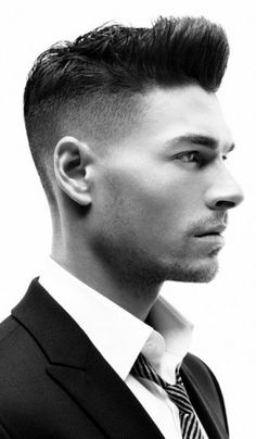 Sexy half shaved hairstyle for men