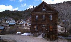 The supposedly haunted Masonry Hall in Silver City, Idaho.
