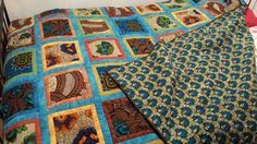 quilt for Martha. made from beautiful African Shitenge fabric bought on the market in Livingstone, Zambia. 140x200 cm