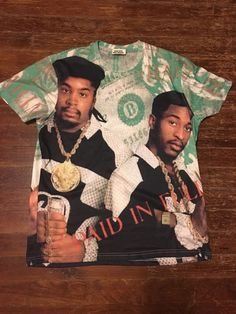 Vintage Eric B. And Rakim Paid In Full All Print Over Shirt | eBay