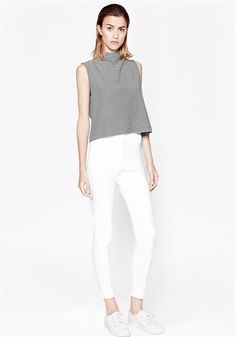 French Connection Spring 2015 @ www. French Connection, Trousers, Pants, Clothes For Sale, White Jeans, Personal Style, Cool Outfits, Style Inspiration, Chic