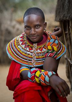 Portrait Of A Rendille Tribeswoman, Marsabit District, Ngurunit, Kenya  © Eric Lafforgue