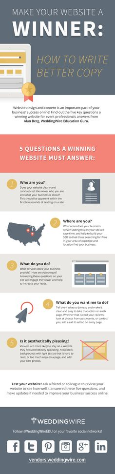 5 Questions a Winning Website Must Answer - infographic