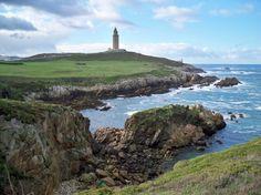 The coasts of northern Spain  La Coruna, Spain