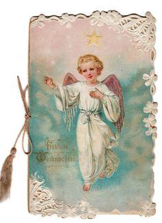 Holy Angel - Vintage Die-Cut Holy Card