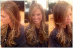 Some Balyage on previously highlighted hair to lighten around face