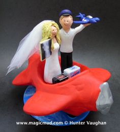 Radiologist Marries Pilot Wedding Cake Topper by www.magicmud.com $250 1 800 231 9814 mailto:magicmud@m... blog.magicmud.com twitter.com/... www.facebook.com/... #radiologist#airplane#plane#pilot#wedding #cake #toppers #custom #personalized #Groom #bride #anniversary #birthday#weddingcaketoppers#cake toppers#figurine#gift#wedding cake toppers