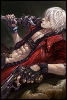 Dante from Devil May Cry: Very sexy male voice and body! He likes ice cream!