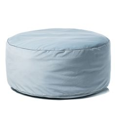 Velvet Floor Cushion Blue