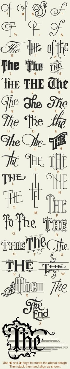 hand drawn typography by lara