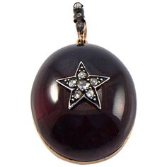 19th Century Garnet Carbuncle Pendant | From a unique collection of vintage necklace enhancers at https://www.1stdibs.com/jewelry/necklaces/necklace-enhancers/