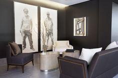 Reagan Hayes Showroom | Margot Sofa, Olivia Side Table, Charles Lounge, Christopher Lounge, Peter Walker Art
