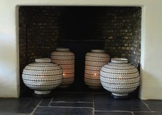 Oval Lanterns from www.behomecollection.com - creating the right ambience.