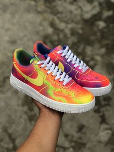 Brand new with original box -Each pair is totally handmade and without stencil, so drips and forms can be different but always in same style - Angelus paint & acrylic finisher - Water resistant. - Adult and Junior sizes available ( price varies ) Custom Sneakers, Nike Sneakers, Nike Shoes, Air Force 1, Nike Air Force, Lil Uzi Vert Style, Bud, Me Too Shoes, Stencil
