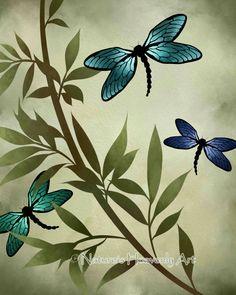 Libélula azul Print, 8 x 10 terrosos, imprimir colores personalizables, acuarela arte de la pared, decoración de naturaleza verde    Hermoso y azul mejor describe estas maravillosas libélulas. Hecho en acuarela y originalmente por mí el arte libélula se puede añadirse fácilmente a cualquier decoración con los colores naturales de la tierra. Si desea un color diferente simplemente elegir tus favoritas libélulas de la última foto y especifican esta opción número en el espacio Nota al arte…