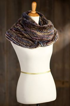 Women's Knitted Rex Rabbit Infinity Scarf by Overland Sheepskin Co. (style 74706)
