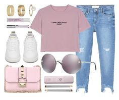 """Purple"" by smartbuyglasses-uk ❤ liked on Polyvore featuring Miss Selfridge, Valentino, MANGO, WithChic, Versace, Golden Goose, Urban Decay, Chantecaille, Laura Mercier and purple"