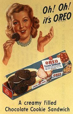 Oh-oh Oreo! The world& favourite snack celebrates birthday as it is ranked best-selling cookie of Century Kraft, the company that now owns Oreo, will release a limited version of its cookie and creme sandwich with a colourful filling. Retro Vintage, Photo Vintage, Vintage Signs, Vintage Stuff, Vintage Ads Food, Vintage Food Posters, Retro Food, Vintage Candy, Vintage Disney