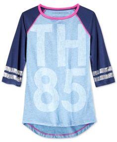 acd21a50 Tommy Hilfiger Girls' 85 Baseball T-Shirt & Reviews - Shirts & Tees - Kids  - Macy's