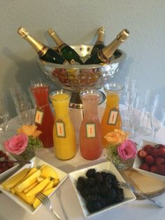 Mimosa Bar Great Idea For A Baby Shower, Brunch Or Any Small Event.