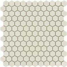 Ice White Hexagon Porcelain Glossy Tile