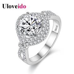 Find More Rings Information about Uloveido Wedding Ring Female Silver Plated Rings for Women Rings Jewelry Bague Femme Anel Gifts for Girls Drop Shipping PJ4306,High Quality silver plated rings,China wedding rings Suppliers, Cheap rings for women from Uloveido Official Store on Aliexpress.com