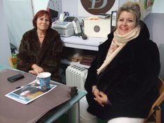 Our fabulous neighbours at Hay Festival.  Sarah & Naomi from the Bowie Gallery.  Hay-on-Wye