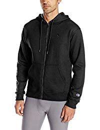 Champion Men's Powerblend Fleece Full-Zip Hoodie Source by maplestyles Mens Fleece, Fleece Hoodie, Athletic Outfits, Athletic Wear, Fashion Wear, Mens Fashion, Fashion Trends, Plain Black Hoodie, Full Zip Hoodie