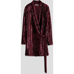 VELVET DRESS - View all-DRESSES-TRF | ZARA United States (681.150 IDR) ❤ liked on Polyvore featuring dresses and velvet dress