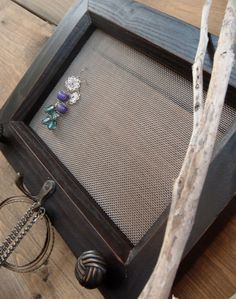 Wooden Jewelry Organizer - another potential DIY project