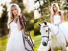 , I really want to struggle with gettign on a horse in my wedding gown, probably getting it dirty and possibly tearing it in the process, for the sake of a picture. NOT